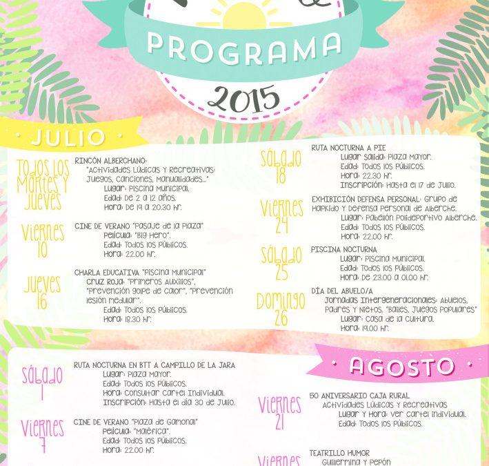 Cartel actividades de verano