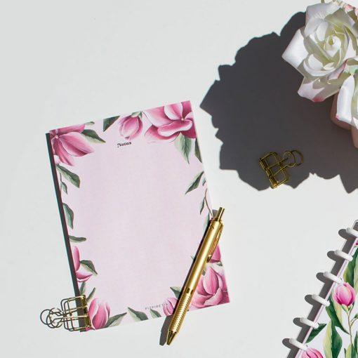 bloc notas flores
