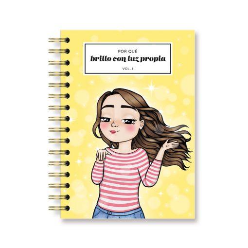 cuaderno para chicas guapas