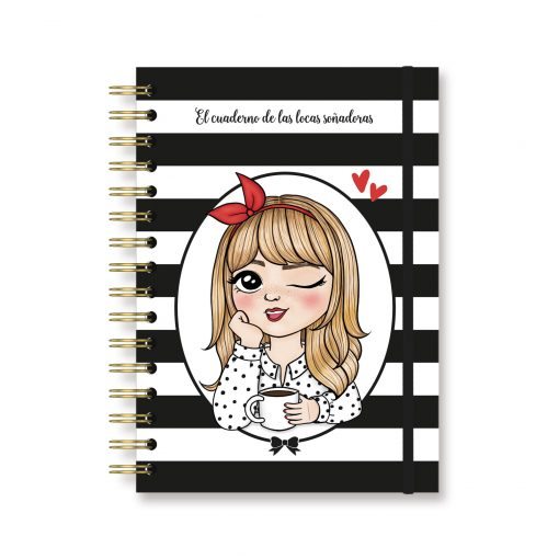 cuaderno chica rubia