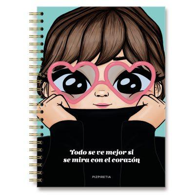 cuaderno corazón