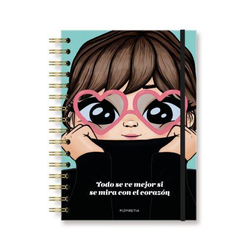 cuadernos con goma para bullet