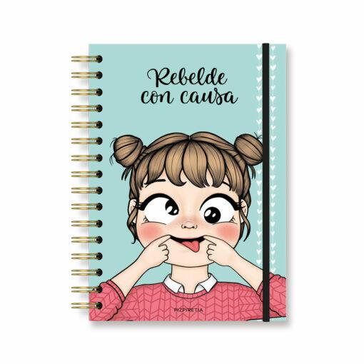 cuaderno con goma