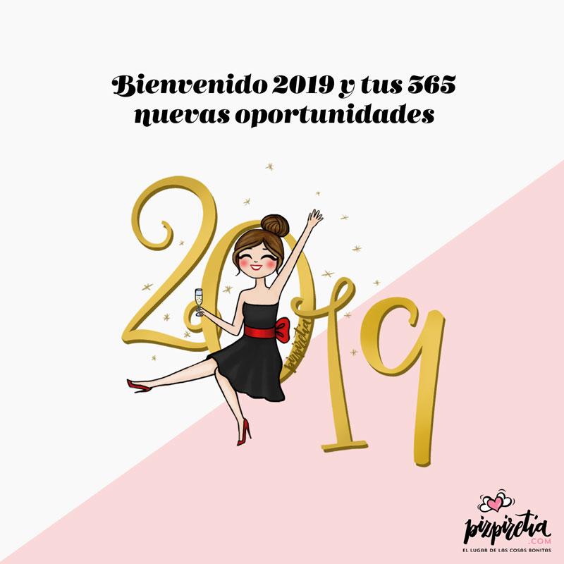 Planificador descargable e imprimible para enero 2019 de Pizpiretia