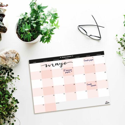 planificador mensual elegante